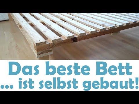 Das beste minimalistische Bett! Ganz einfach selber bauen! DIY schnell und günstig!