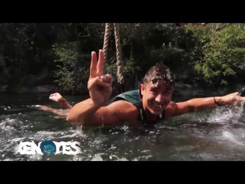 FLY LIKE SUPERMAN AT XENOTES | Natural adventure tour in Cancun, Mexico.