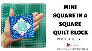 Mini Square In A Square Quilt Block - 3 Inch Block
