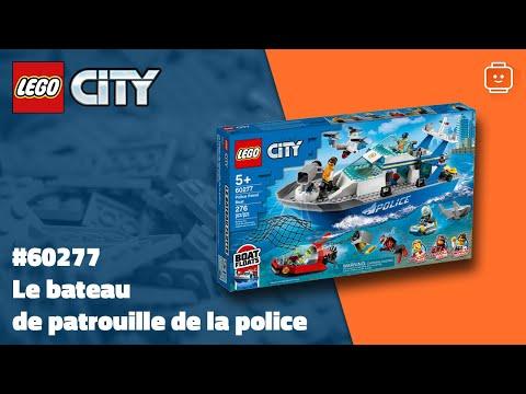 Vidéo LEGO City 60277 : Le bateau de patrouille de la police