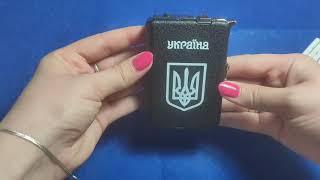 Портсигар + зажигалка на 10 сигарет JING PIN (Турбо пламя) Украина от компании KosVol - видео