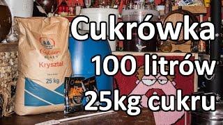 Cukrówka 100l - 25kg cukru - nastaw, zacier, bimber - test drożdzy!