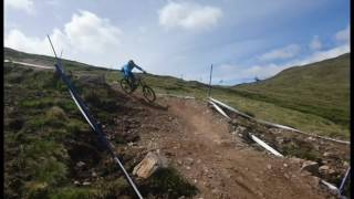 Black Downhill Bike Track