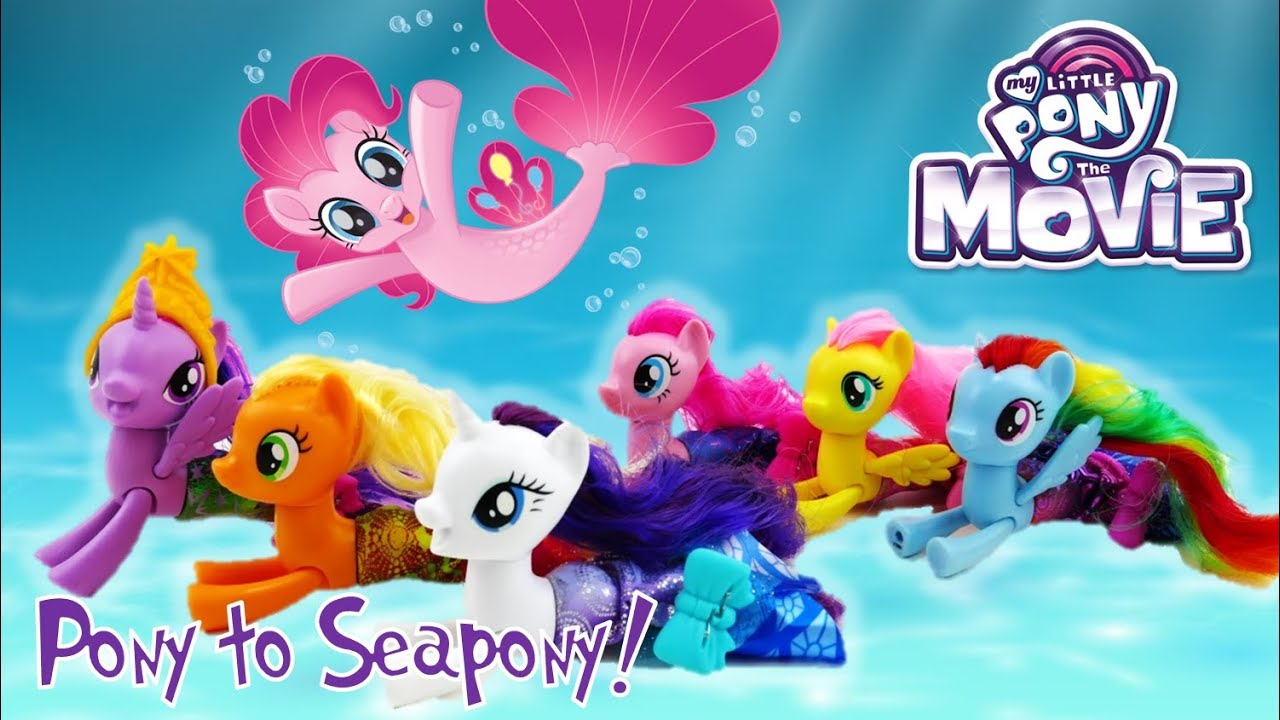 My Little Pony Movie 2017 Land and Sea Fashion Seapony Twilight Rarity Applejack