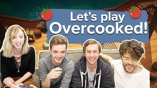 Let's play Overcooked with 4 players and 2 controllers - Overcooked PS4 gameplay
