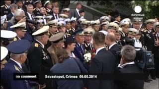 Путин в Крыму 9 мая 2014г. Euronews