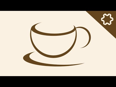 Cafe Coffee Shop Logo Design Tutorial / Adobe illustrator / Coffee Cup Logo / illustrator Tutorial