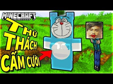 DORAEMON TẬP TẠ   THỬ THÁCH CẤM CƯỜI Minecraft