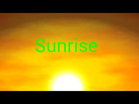 Video of Wake up with the sunrise