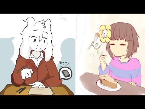 Frisk and Asriel are just too cute! (Undertale Animation & Comic Dub Compilation)