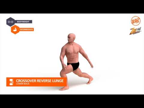 Lower Back   Crossover Reverse Lunge