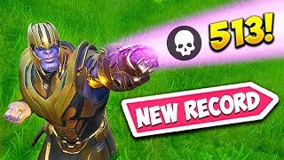 *NEW RECORD* 513 KILLS AS THANOS! - Fortnite Funny Fails and WTF Moments! #540
