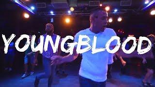 Youngblood - Line Dance Demo   5sos   Carlton Thompson Choreography