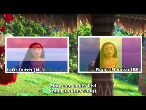 """How Far I'll Go"" Dutch and Flemish Comparison"