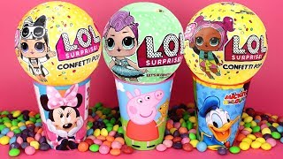 Super Candy LOL Surprise Opening Confetti Pop Smooshy Mushy Lego Blind Bags Surprise Toys for Kids