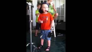 Nathan singing Honky Tonk Superman