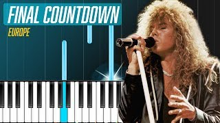 """Europe - """"The Final Countdown"""" Piano Tutorial - Chords - How To Play - Cover"""