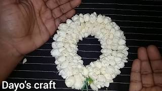 How to string Jasmine flower garland.