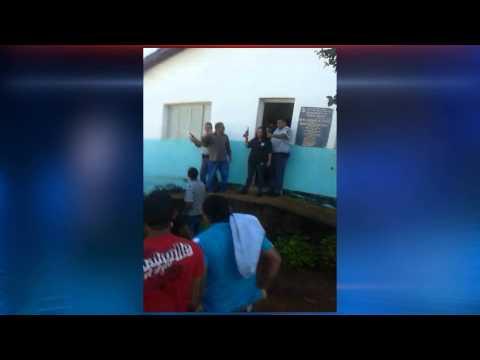 População tenta linchar o suspeito de homicidio em Araguainha Mato Grosso