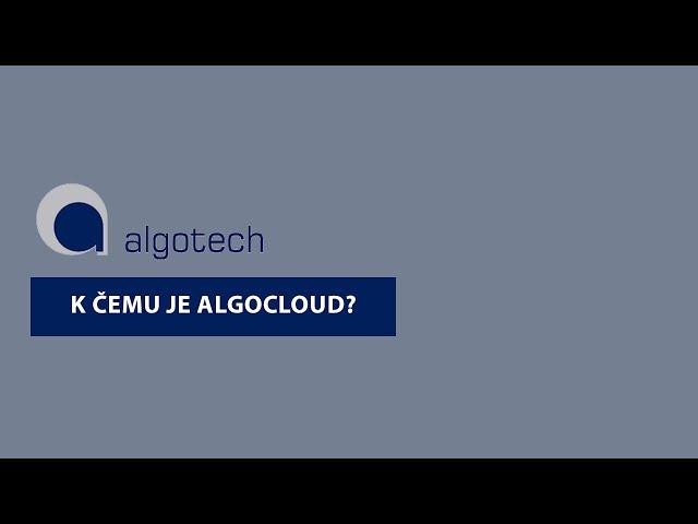 K čemu je AlgoCloud?
