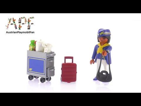 Vidéo PLAYMOBIL Special Plus 4761 : Hôtesse de l'air avec chariot de service