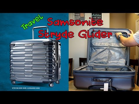 Samsonite STRYDE GLIDER Luggage Long Journey Unboxing and Review