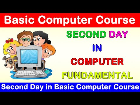 Second Day In Basic Computer Course, Second Day In Computer ...