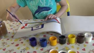 Учимся рисовать гуашью кораблик