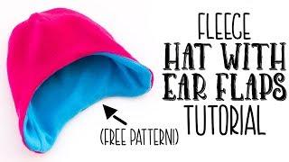 Fast Fleece Hat With Ear Flaps DIY (free Pattern)