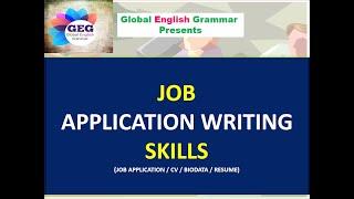 Job Application Writing Skills   video