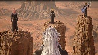 Kingdom Hearts 3 (PS4) Marluxia, Larxene, Demyx, Luxord Reunion HD 720p 60fps