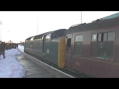 Deltic 55022 'Royal Scots Grey' engine start