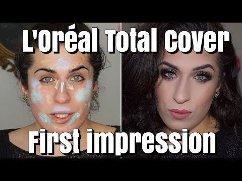 FIRST IMPRESSION Loreal Total Cover Foundation & Palette | Color Correcting | Jolina Mennen
