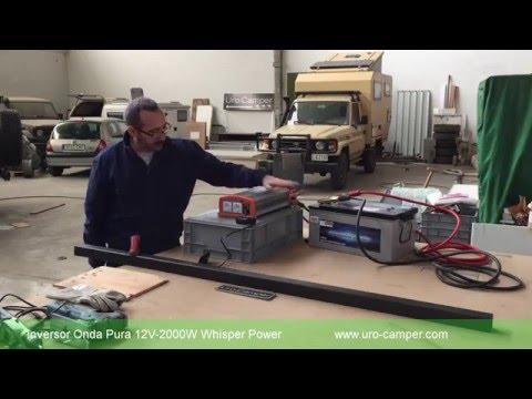Inversor Onda Pura WP Sine 12V-2000W Whisper Power