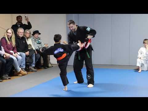Revolution Martial Fitness: Greyson's Belt Promotion to Purple Belt