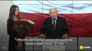 Przemówienie Jarosława Kaczyńskiego po wyborach – gorące reakcje w sztabach