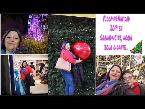 Vlogmas Granada 2019: Tarde de Domingo navideño, cine y paseo por el centro, navidad - YouTube