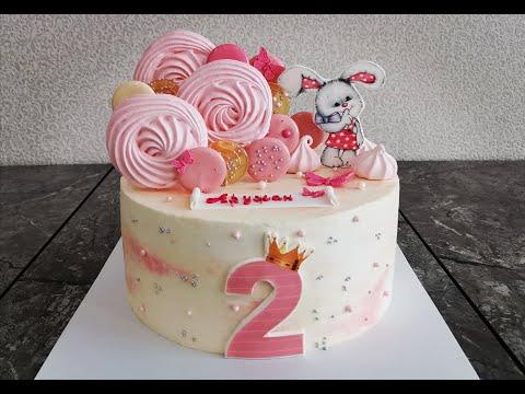 Масетр-класс украшения торта на 2 годика девочки