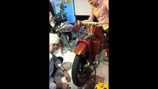 preview picture of video 'Megola (Motorrad mit Umlaufmotor) in (fast) Aktion (Teil 1) | Großschönau | Opel Autohaus Olbrich'