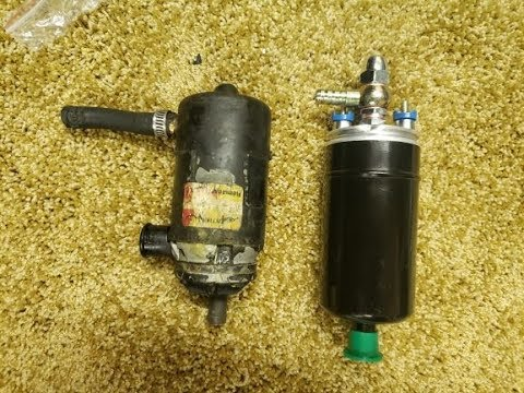 Fuel Pump replacement - 1978 volvo 244 - oem to aftermarket with modification
