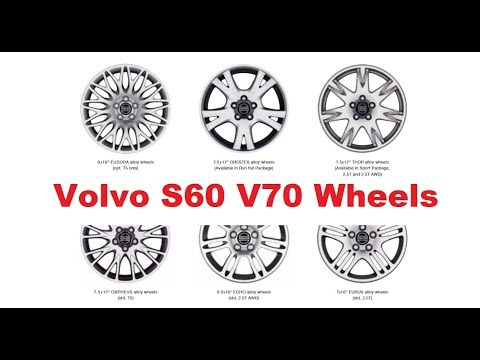 Volvo S60 V70 Wheel options  2001-2009