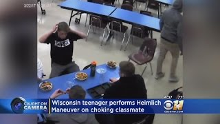 Teenager Performs Heimlich Maneuver On Choking Classmate