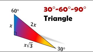 Prove: Side Ratios For 30-60-90 Triangle = 1:sqrt(3):2