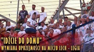 """""""IDŹCIE DO DOMU"""" - wymiana """"uprzejmości"""" na meczu Lech - Legia (20.05.2018 r.)"""