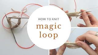 How to Knit in the Round Using Magic Loop
