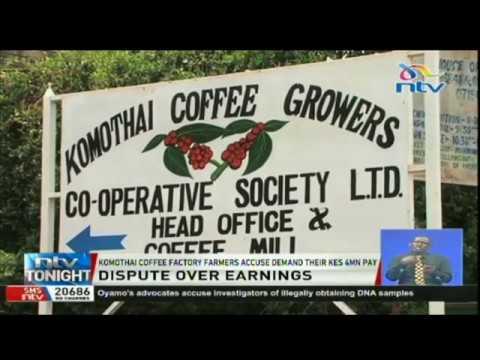 Komothai coffee factory farmers demand their Ksh 4 million pay