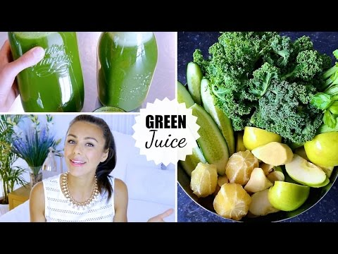 GREEN JUICE! (Recipe, Beauty & Health Benefits, Fasting, Weight Loss…) | Annie Jaffrey