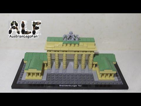 Vidéo LEGO Architecture 21011 : Porte de Brandebourg