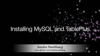 Installing MySQL and TablePlus // SIMPLE and FAST