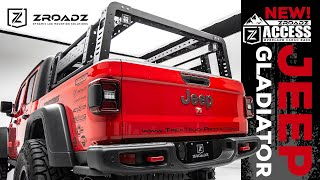 "ZROADZ (Z834101): Overland Bed Rack with 3"" LED Pod Lights for '19-'20 Jeep Gladiator"